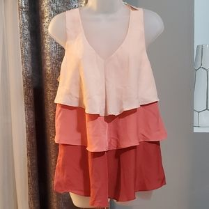 NWT NY&C riffle silly top size L